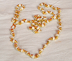White Tulsi Mala With 24 Ct. Gold Plated